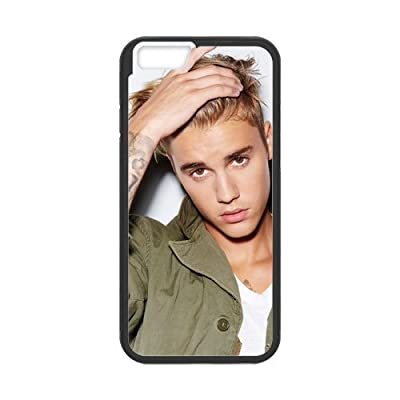 Case for iPhone 6(5.5inch)and iPhone 6s Plus, 6s Plus Cover,Black/White Sides,Hign Quality Rubber iphone6 plus Cases ,Justin Bieber 6s Plus Cover