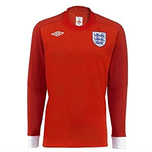England Away Long Sleeved Soccer Shirt 2010-11