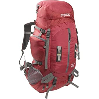 JanSport Klamath 68 Basecamp Series Backpack, Red Curtain