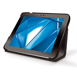 ELECOM レザーカバー REGZA Tablet AT501対応 フラップ付 ブラック TB-TO501APLFBK