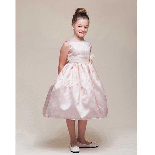 Crayon Kids Girls 3T Pink White Dot Easter Flower Girl Dress