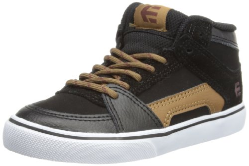 Etnies Unisex-Child Kids RVM Vulc Trainers 4301000083 Black/Brown 1 UK, 34 EU, 2 US