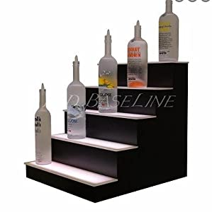 led lighted liquor bottle display shelf 64. Black Bedroom Furniture Sets. Home Design Ideas
