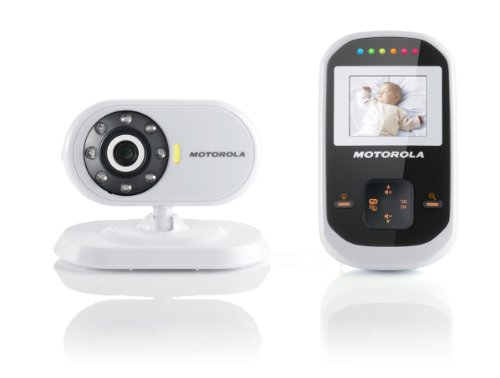 Motorola MBP18 Digital Wireless Video Baby Monitor with 1.8-Inch Color LCD Screen, 2.4 GHz FHSS, and Infrared Night Vision - 1