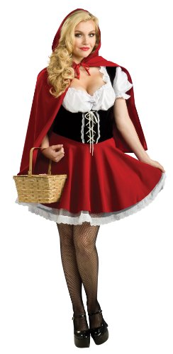 Rubies Women's Plus Size Red Riding Hood Costume, Red, 14-16