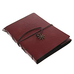 Generic Vintage PU Leather Photo Album Memo Book DIY Scrapbook Memory Gift - brown, 21 x 27.5cm