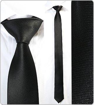 masqline schmale krawatte 5cm schwarz bekleidung. Black Bedroom Furniture Sets. Home Design Ideas