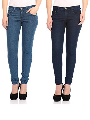 Flyjohn-Womens-Combo-of-Two-Light-Dark-Blue-Jeans