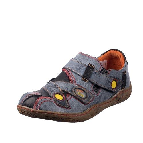 TMA EYES 1339 Sandalette Gr.36-42 mit bequemen perforiertem Fußbett , Leder 39.35 super leichter Schuh der neuen Saison. ATMUNGSAKTIV in Schwarz Gr. 36