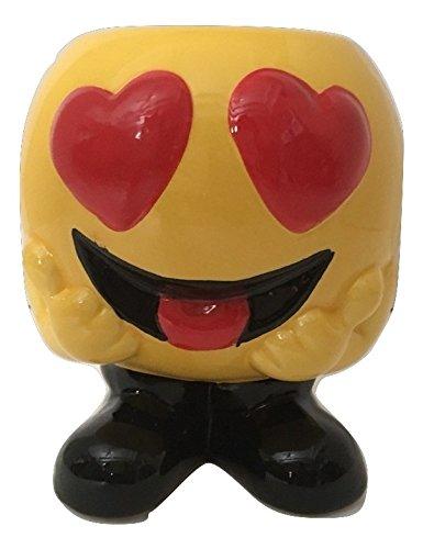 Heart Eyes Emoji Tea Coffee Mug USA Seller (Sleeping Mask Cookie Cutter compare prices)