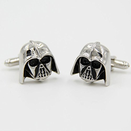 Beauty Jewelry Shop Cufflinks For Men Or Women Designs Black Silver Darth Vader Mask Helmet Dark Lord Sith Star Wars Wedding Groom Men Cuff Links Business Silver Cufflinks For Mens