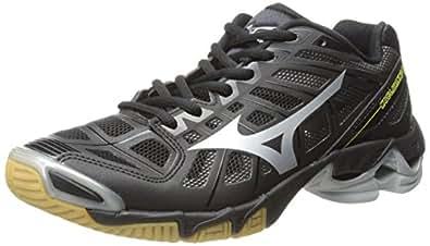 Mizuno Men's Wave Lightning RX2 Volleyball Shoe,Black/Silver,15 M US