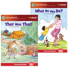 """""""That Was That!"""" features consonant digraphs (th).  """"What Do You Do?"""" features consonant digraphs (wh)"""
