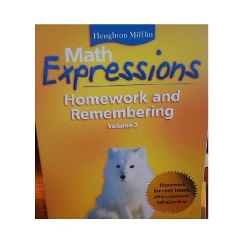 Math Expressions Homework and Remembering.