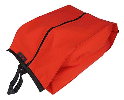 【REFINOSIS】 防水 シューズバッグ 旅行 荷物 仕分け 靴袋 スーツケース 内 荷物整理 (レッド)