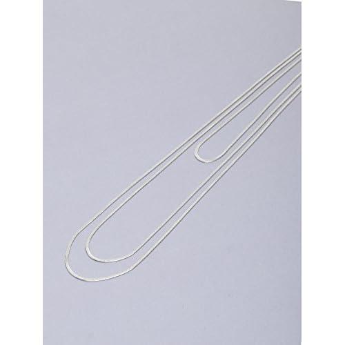 (ルスーク)LE SOUK スネークチェーン3連ネックレス シルバー 40