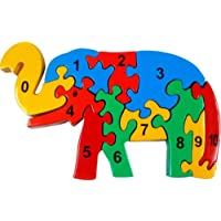 Little Genius Counting On Elephant Jigsaw Coloured, Multi Color