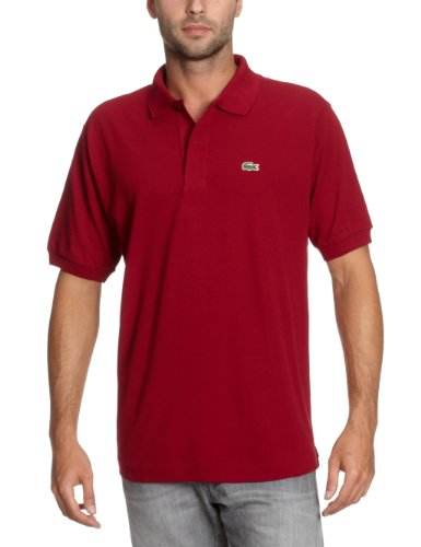 Lacoste 2012 Men's Classic Cotton L1212 Polo - Bordeaux - Size 6 - XL