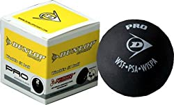 Dunlop Pro Double Dot Squash Ball (Black)
