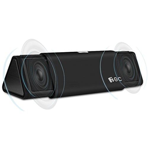 iEC 伸縮型 Bluetoothスピーカー 高音質 通話可能 ブラック