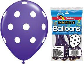 "PIONEER BALLOON COMPANY Round Big Polka Dots, 11"", Violet"