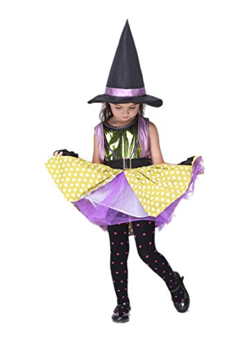 NonEcho Child's Girls Little Witch Costume Halloween Outfit Kit
