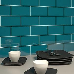 Giorbello G5920 Glass Subway Tile, Dark Teal - Blue Glass Tile