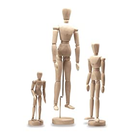 Reeves 8 inch Manikin Unvarnished