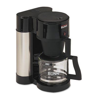 10-Cup Home Coffee Brewer, Stainless Steel, Black front-606517