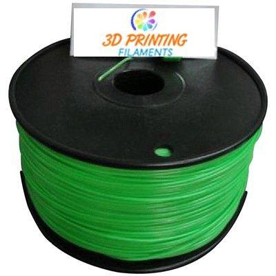 3d printing filaments-1.75mm green abs plastic filament 1kg or 2.2lbs 3d printer kit
