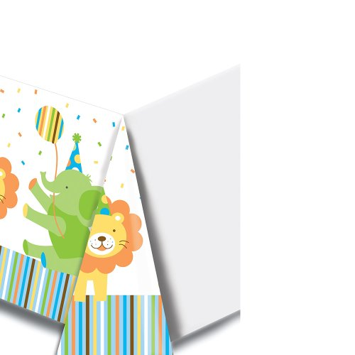 Creative Converting Sweet at One Boys Plastic Banquet Table Cover