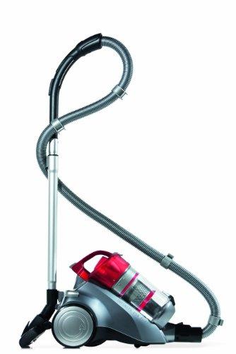 Dirt Devil Infinity VS8 Turbo M5036-4 Aspirapolvere con spazzola turbo e per parquet, 1600 W, colore: Antracite/Rosso