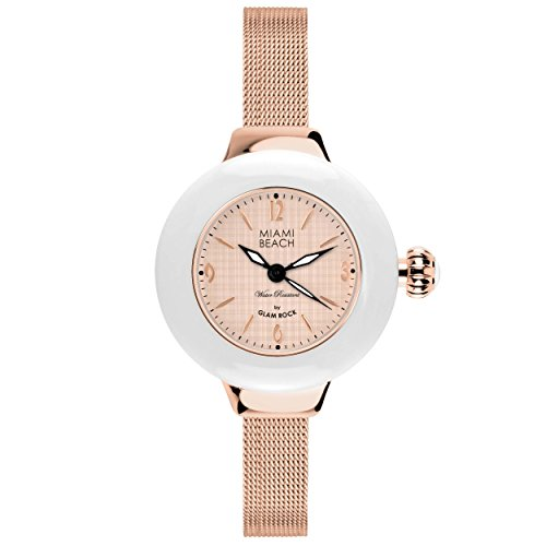 Glam Rock MBD27189 - Reloj para mujeres color oro rosa