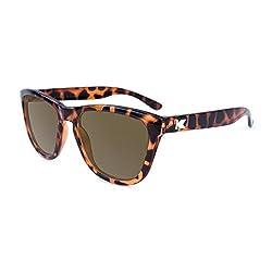 Knockaround Wayfarer Sunglasses Amber (Brown Tortoise Shell)