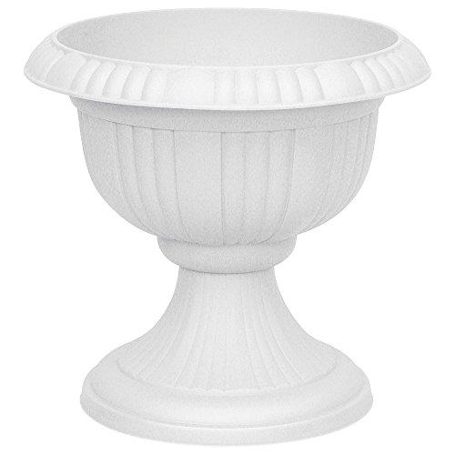 Pflanzkbel-rund-aus-Kunststoff-40-cm-Blumenspindel-Farbe-lichtgrau