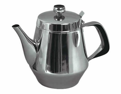 Stainless Steel Gooseneck Tea Pot w/ Vented Hinged Lid, 20 Fluid Ounces (2 - 3 Cups) by Pride Of India (20 Oz Gooseneck Teapot compare prices)