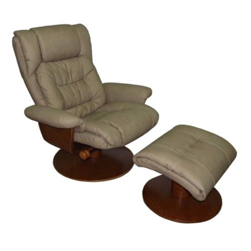 Swivel Recliner And Ottoman front-1062698