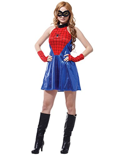 LaLaMa Women's Disguise Marvel Spider Sassy Adult Deluxe Costume