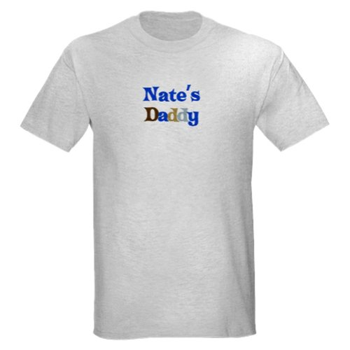 Personalized Nate'S Daddy Father'S Day Shirt - Customize With Any Boy Or Girls Name front-938728