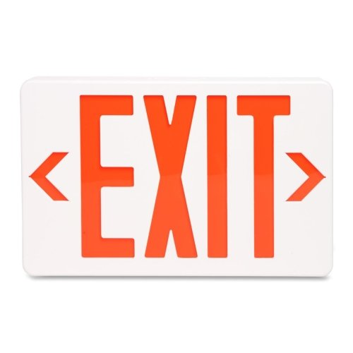 """Wholesale Case Of 5 - Tatco Led Exit Sign With Battery Back-Up-Led Emrgncy Exit Sign W/Batt Backup,12-1/4""""X2-1/2""""X8-3/4"""",We"""