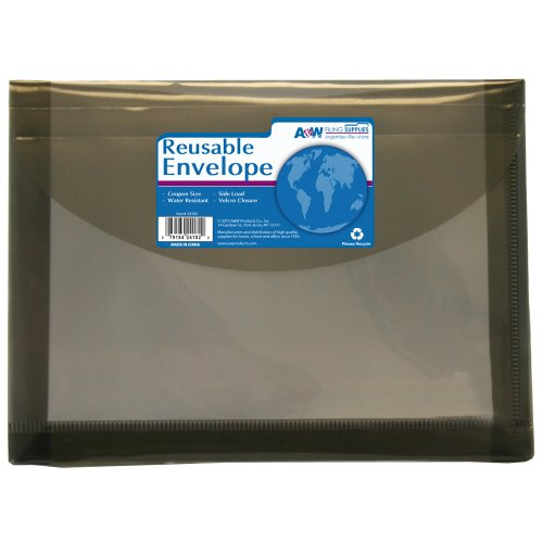 A&W Products Reusable Poly Envelope with Velcro Closure, Coupon Size (24182)