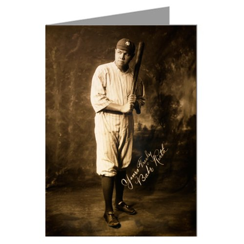 Babe Ruth Circa 1920 Baseball Sport Greeting Card Set