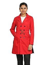 Fbbic Women's Long Coat (16136_Medium_Red)