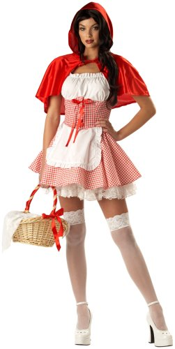 California Costume Women's Adult-Miss Red Riding Hood, Red/White, S (6-8)