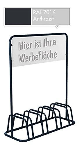 4er-Werbe-Fahrradstnder-mit-Werbeschild-Fahrradhalter-Werbetafel-Grau