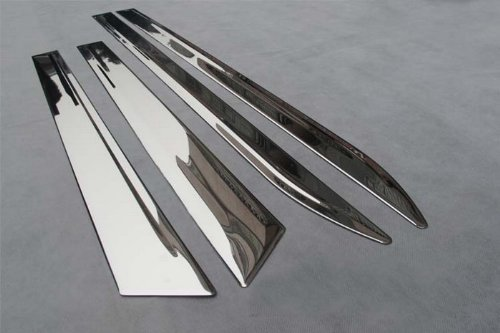 Auto Parts Body Door Side ChromeMolding Trim Stainless Steel 4pcs Fit For 2010 2011 2012 2013 Cadillac SRX