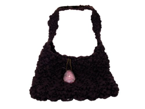 Wholesale Set Of 1, Handmade Brown Bag With Glass Stone Closure (Fashion Accessories, Handbags), $29.67/Set Delivered