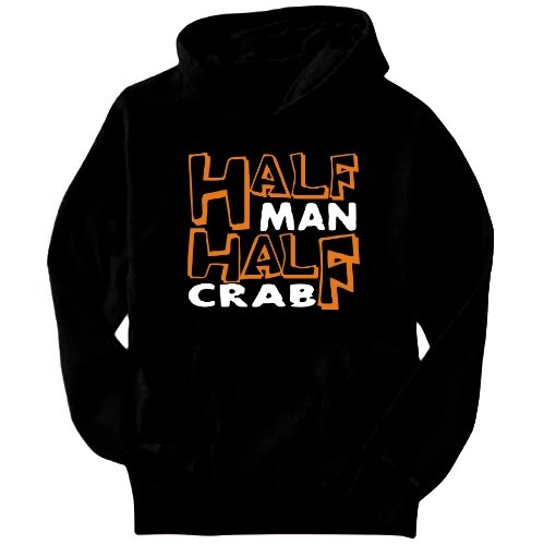 Half Man , Half Crab Mens Hoodie