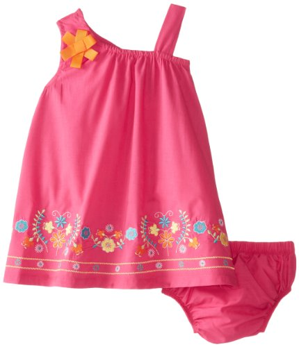 Nannette Baby-Girls Infant 2 Pcd Floral Dress Set, Rosey Ring, 18 Months