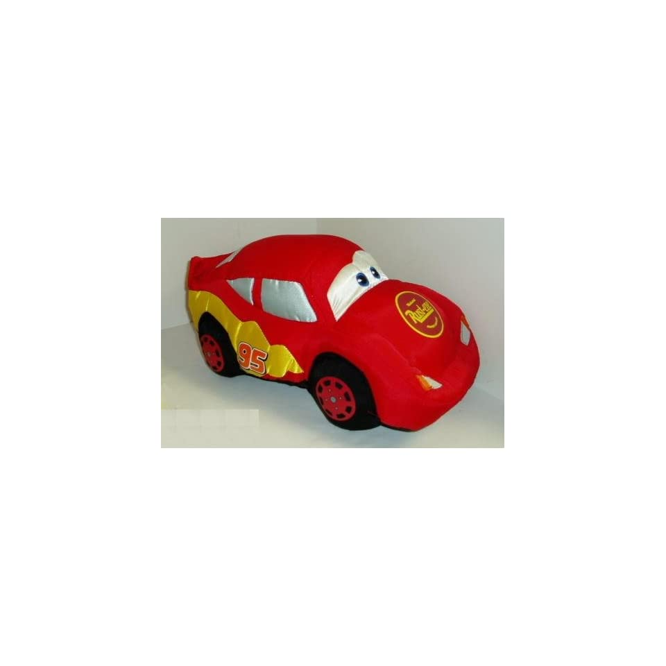 DISNEY Cars Lightning McQueen Car 95 ~ 12 Pillow Plush on